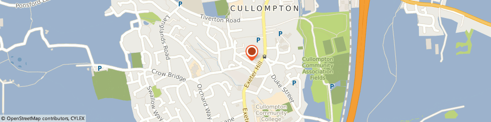 Route/map/directions to Piglet Cottage, EX15 1HA Cullompton, 13, NEW ST