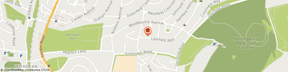 Route/map/directions to N S Benn, BN1 8EF Brighton, 8 Larkfield Way