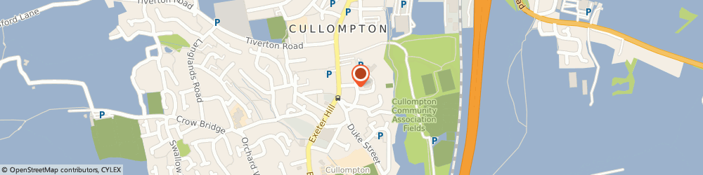 Route/map/directions to Dedicated Care, EX15 1JU Cullompton, 1a Church St