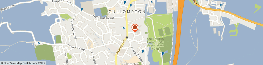 Route/map/directions to Cullompton Community Centre (Operations) Limited, EX15 1JX Cullompton, PYE CORNER, CHURCH STREET