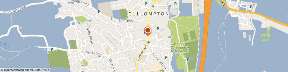 Route/map/directions to M A Morgan, EX15 1LE Cullompton, 1 New Inn Court