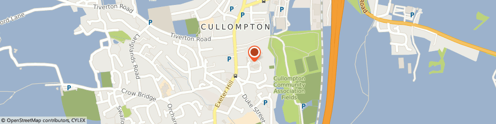 Route/map/directions to Southwest Limousines, EX15 1JX Cullompton, Po Box 45