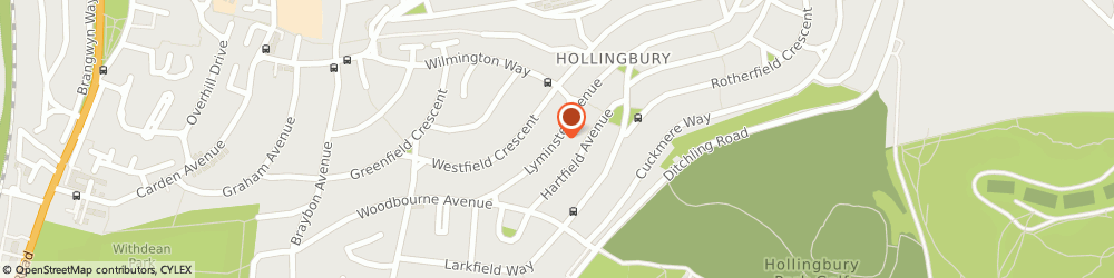 Route/map/directions to Victor Bennett, BN1 8JL Brighton, 25 Lyminster Ave