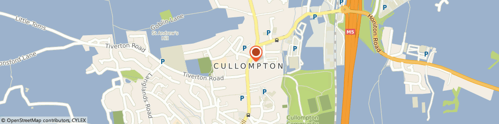 Route/map/directions to Cullompton Baptist Church, EX15 1AA Cullompton, High Street