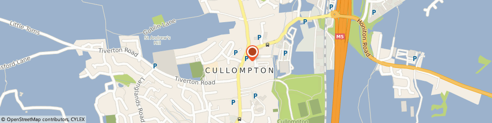 Route/map/directions to The Market House Inn Cullompton, EX15 1AB Cullompton, 21-23 High Street