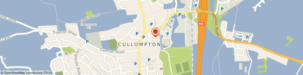 Route/map/directions to Peter Warren, EX15 1AG Cullompton, THE FORGE, HIGHER MILL LANE