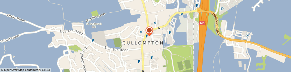 Route/map/directions to Hamiltons, EX15 1AE Cullompton, 36 HIGH STREET