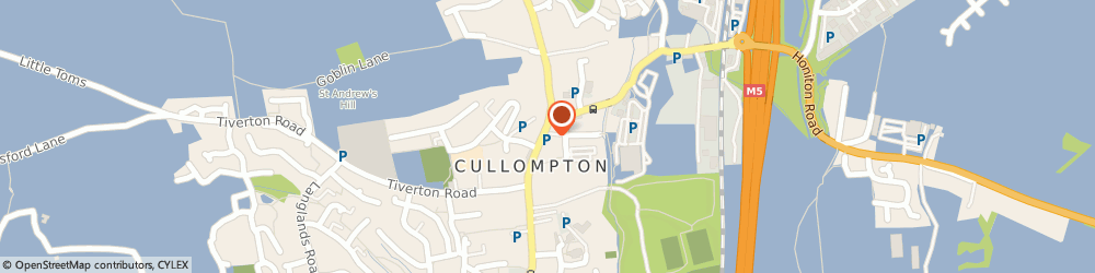Route/map/directions to Mary Dunn & Associates, EX15 1AA Cullompton, 29 High Street