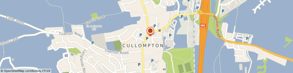 Route/map/directions to Conservative Club, EX15 1AE Cullompton, 40 High St