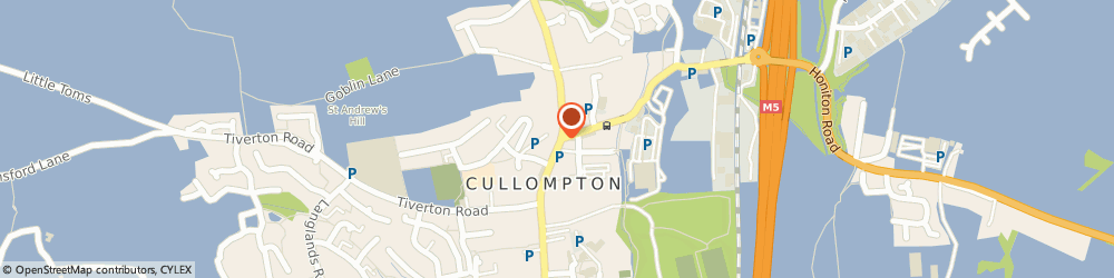 Route/map/directions to Cullompton Dental Centre, EX15 1AJ Cullompton, 2 HIGHER STREET