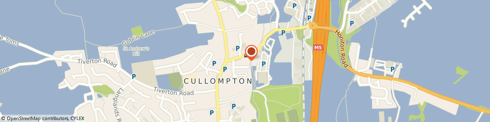 Route/map/directions to Tony Bryant, EX15 1AQ Cullompton, 7 BELLEVUE TERRACE