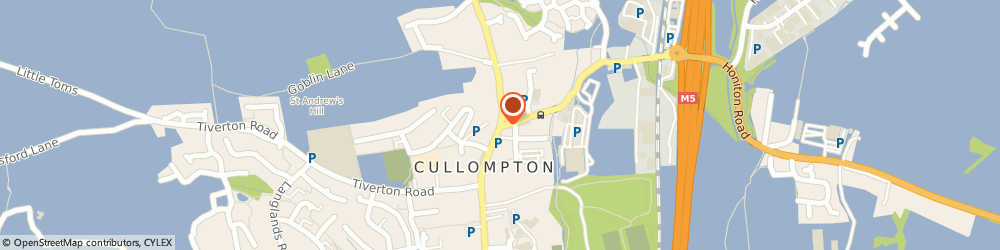 Route/map/directions to The Cullompton Orthodontic Practice, EX15 1AJ Cullompton, 4 Higher Street