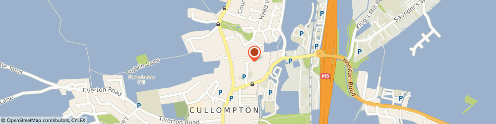 Route/map/directions to Dr n Rhys-Davies, EX15 1TG Cullompton, College Road