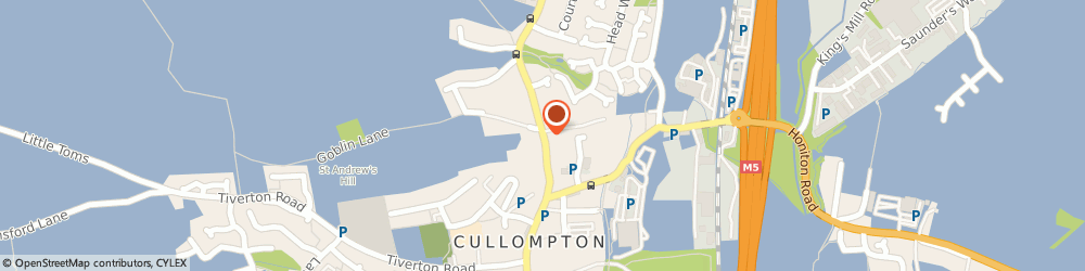Route/map/directions to Forge House Residential Care Home, EX15 1AJ Cullompton, 60 Higher Street
