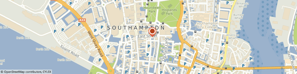 Route/map/directions to Perrys Art & Office Supplies, SO14 3HD Southampton, 109 East Street