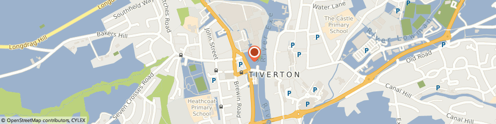 Route/map/directions to James Pryce, EX16 5LX Tiverton, Heathcoat Garage, West Exe North