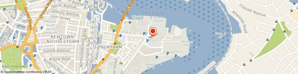 Route/map/directions to Southampton Dry Stack Ltd, SO14 5QN Southampton, Drivers Wharf, 146 Millbank Street