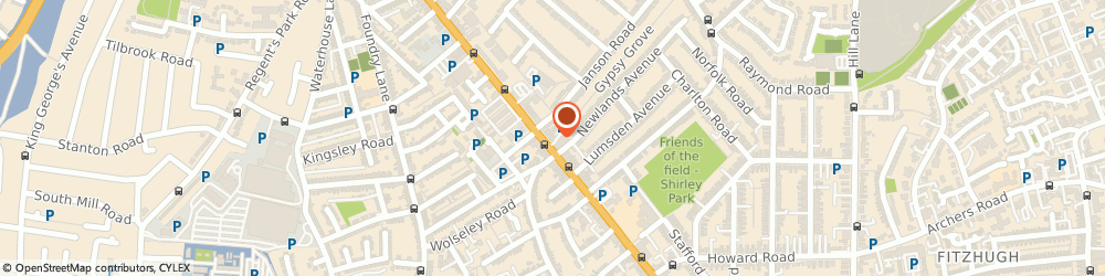 Route/map/directions to Easipet Care, SO15 3HW Southampton, 315 Shirley Road