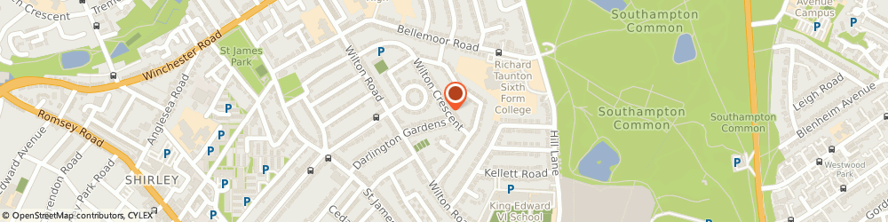 Route/map/directions to Cook, Jane, SO15 7QH Southampton, 38 Wilton Crescent