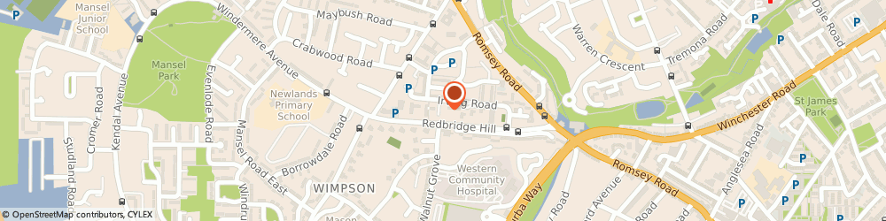 Route/map/directions to Post Office Limited, SO16 4EG Southampton, 39-41 Irving Road