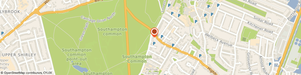 Route/map/directions to K Marston, SO17 1PJ Southampton, 44 Highfield Road