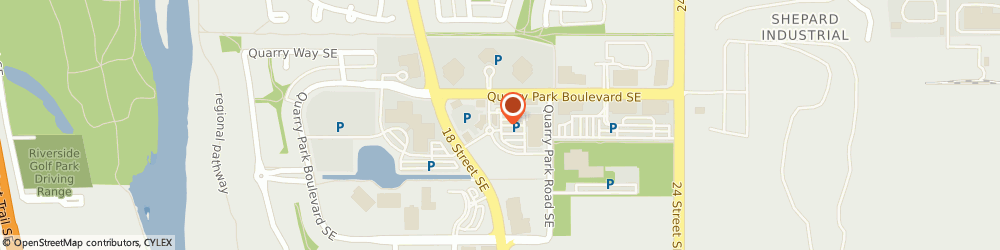 Route/map/directions to Joy and Vitality Centre, T2C 5E1 Calgary, 163 Quarry Park Boulevard