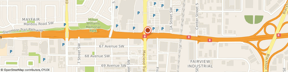 Route/map/directions to The One Sushi, T2H 0J4 Calgary, 5222 Macleod Trail Sw