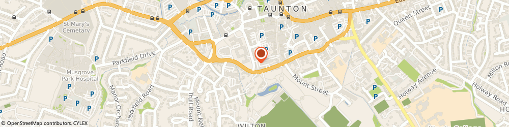 Route/map/directions to Oxygen Creative Services Ltd, TA1 4EB Taunton, 22 The Crescent