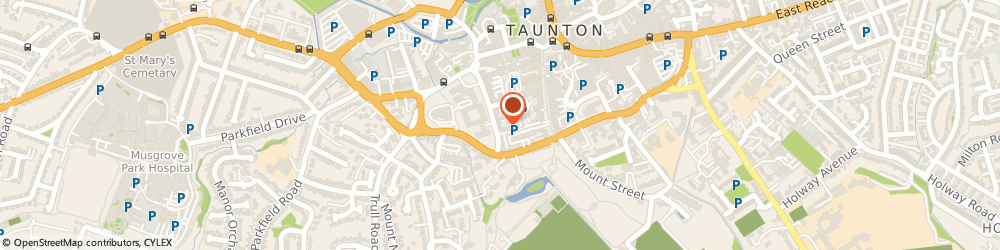 Route/map/directions to Hog Roast Taunton, TA1 4EB Taunton, The Crescent
