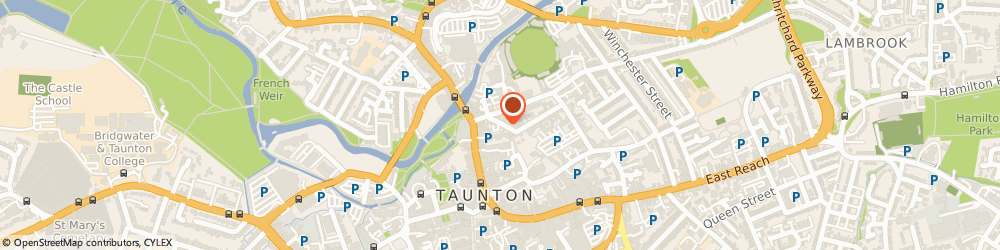 Route/map/directions to Mojos, TA1 1SF Taunton, 17 Lower Middle St