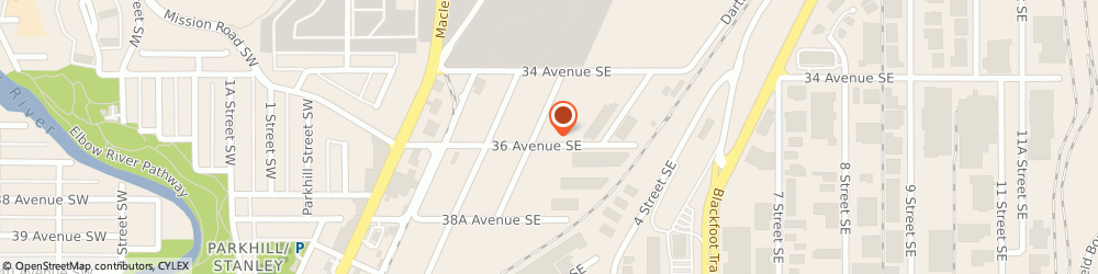 Route/map/directions to Kwick Towing Inc., T2G 1W4 Calgary, 412 36 Avenue Southeast