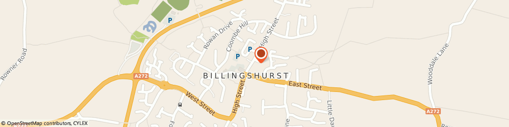 Route/map/directions to Blades Cutting Edge Barbers, RH14 9PP Billingshurst, 41 High Street