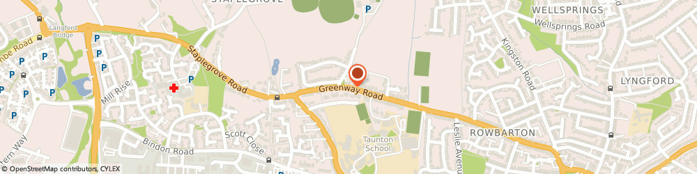 Route/map/directions to Flogas - Greenway Motors, TA2 6LQ Taunton, 209 Greenway Road