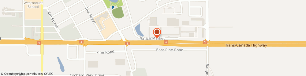Route/map/directions to BMO Bank Of Montreal, Strathmore, T1P 0A8 Strathmore, 100 RANCH MARKET, 100
