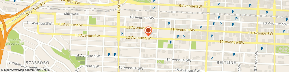Route/map/directions to Art Of Chiropractic on 12th, T3C 0P3 Calgary, 1238 12 Ave Sw