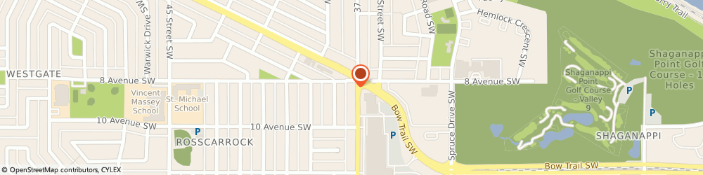 Route/map/directions to Cash Money, T3C 1S5 Calgary, 905 37th St SW