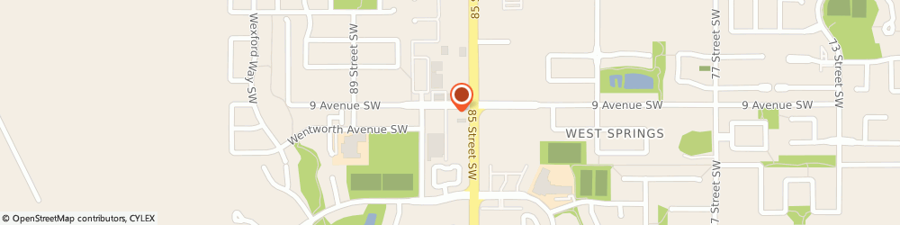 Route/map/directions to Tim Hortons, T3H 5Z9 Calgary, 917 85th St Sw