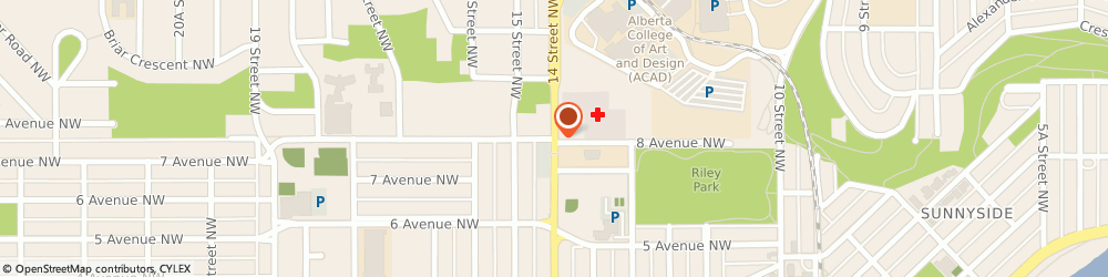 Route/map/directions to Ron Richards, T2N 1Z6 Calgary, 223 14 Street Northwest