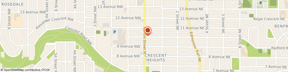 Route/map/directions to Avalon Cleaners, T2E 2R1 Calgary, 1105 Centre St NW