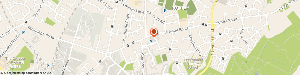 Route/map/directions to Citizens Advice North Horsham, RH12 4DT Horsham, The Millennium Hall, Crawley Road