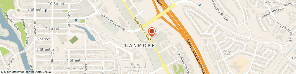 Route/map/directions to Canmore Airporter, T1W 1A1 Canmore, STREET