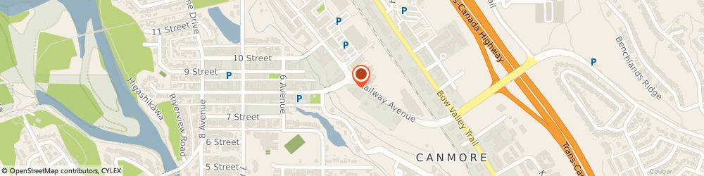 Route/map/directions to Canmore Cabs, T1W 1P2 Canmore, 749 Railway ave.