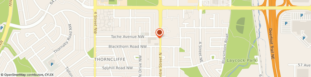 Route/map/directions to Cash Money, T2K 0V2 Calgary, 6219 Centre St NW