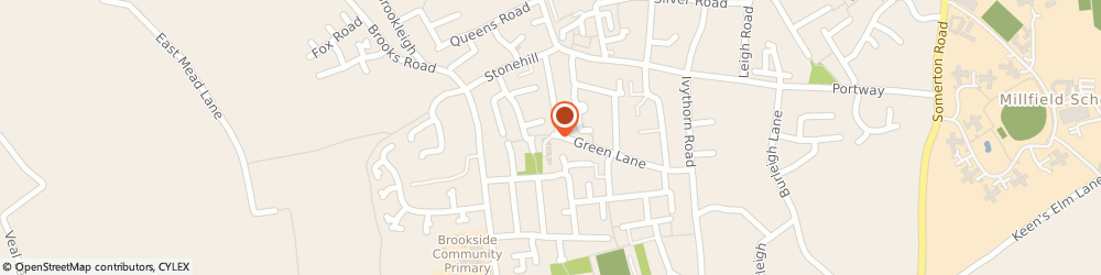 Route/map/directions to Street Detail, BA16 0QL Street, Green Lane