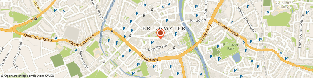 Route/map/directions to The Old Vicarage hotel, TA6 3EQ Bridgwater, 45-51 St Mary St