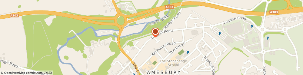Route/map/directions to Amesbury Filling Station, SP4 7DY Amesbury, London Road