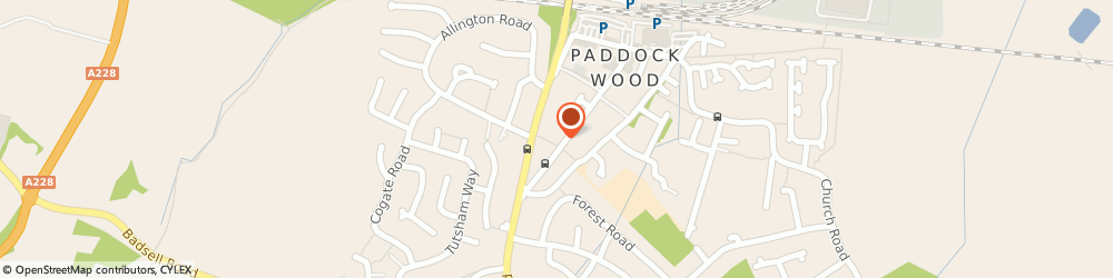 Route/map/directions to Dowding House, TN12 6DP Paddock Wood, DOWDING HOUSE, COMMERCIAL ROAD