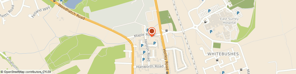Route/map/directions to OOTRANEE LTD, RH1 5HE Redhill, 41 Maple Road