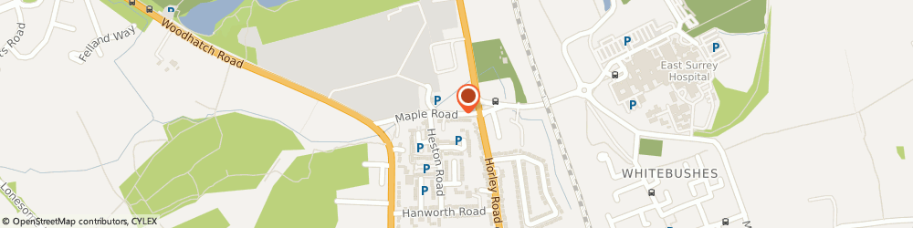 Route/map/directions to R H & D J Garden Services, RH1 5HE Redhill, 8 MAPLE ROAD