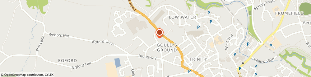 Route/map/directions to R. e. Froud & Associates, BA11 3ET Frome, 61 Robins Lane
